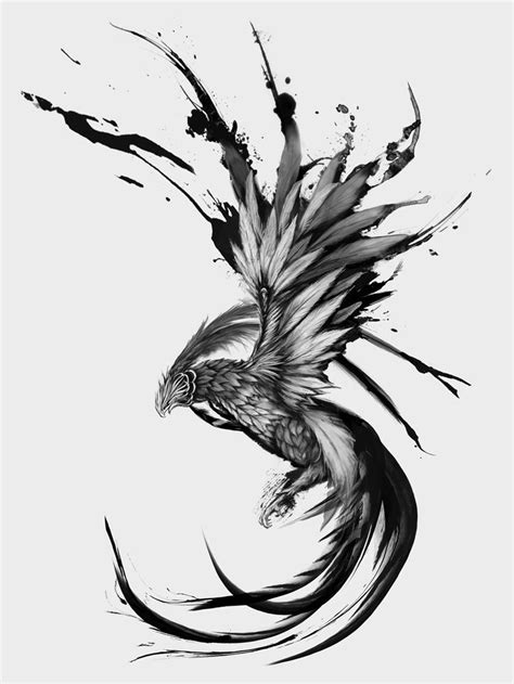 phoenix rising tattoo design 25 best ideas about design on