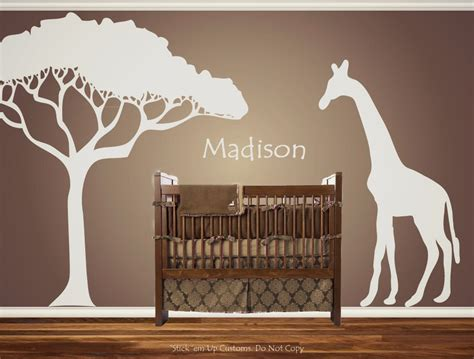 Giraffe Wall Decals For Nursery Personalized Custom Giraffe Animal Nursery Wall Decal Crib Preciously