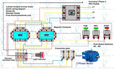 reverse single phase motor wiring diagram wiring
