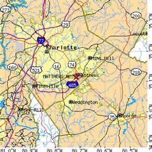 matthews carolina map matthews carolina nc population data races