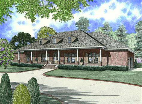 house plans with front porch one story wynnewood ranch home plan 055d 0747 house plans and more