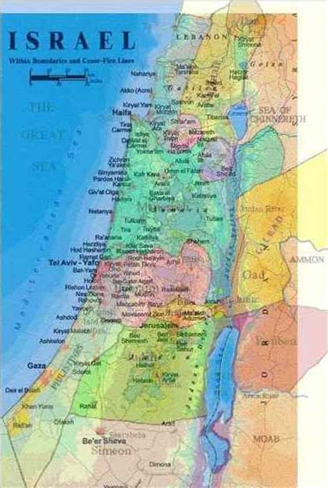 biblical map of israel land of israel