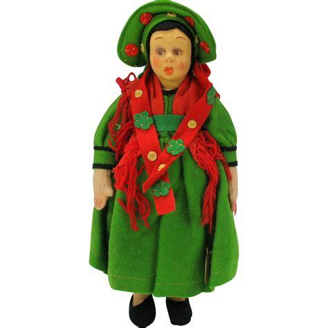 lenci mascotte doll vintage lenci mascot felt doll original tag 9 quot from