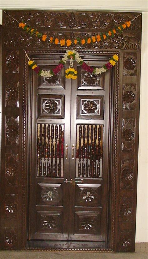 Modern Japanese Home Decor by Wooden Carved Pooja Room Door Design Gharexpert