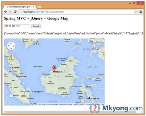 Ip Address Finder Map Mvc Find Location Using Ip Address Jquery Map