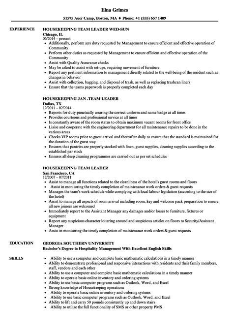 awesome housekeeping resume duties photo exle resume
