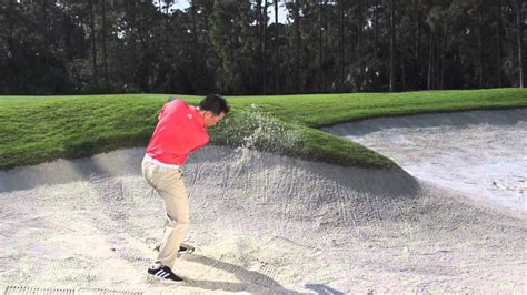 charlie wi golf swing charlie wi bunker shot in pure slow motion golf youtube