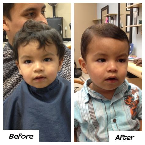 baby haircuts before and after little boys haircut before and after hair clients