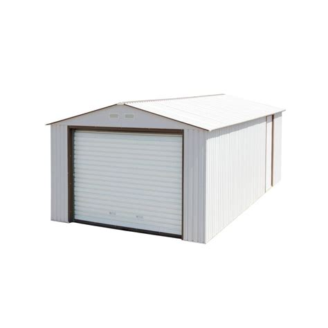 king canopy 7 ft w x 12 ft d steel storage garage g0712