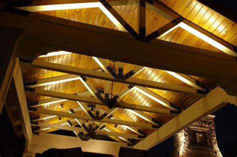 illuminazione per gazebo in legno illuminazione gazebo legno giardino illuminazione led per