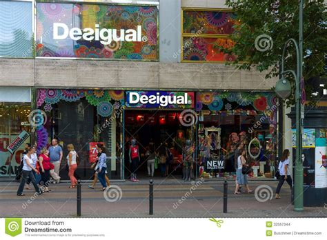 design clothes berlin desigual shop on kurfuerstendamm editorial stock image