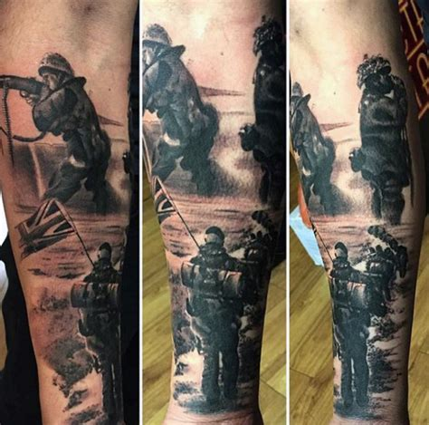 soldier memorial tattoo design 100 tattoos for memorial war solider designs