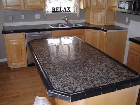 tiled kitchen countertops marble tile counter top best tiles for countertops