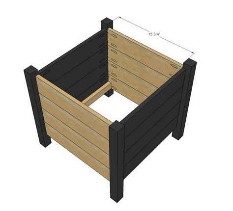 woodworking square square planter woodworking plans woodshop plans