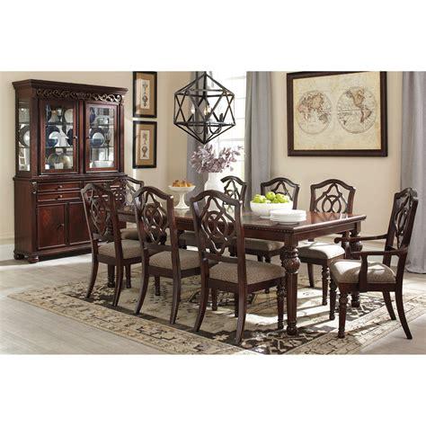 ashley trishley rect dining room 9 piece set furniture signature design by ashley leahlyn 9 piece rectangular