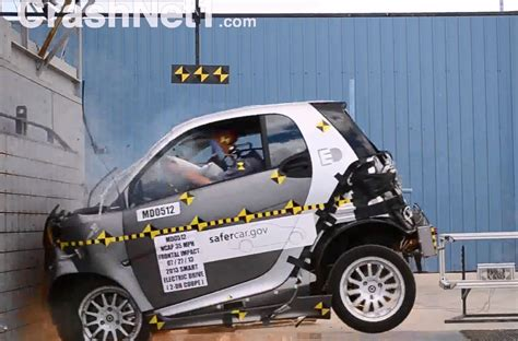 smart car crash 2013 smart electric drive 4 overall for crash
