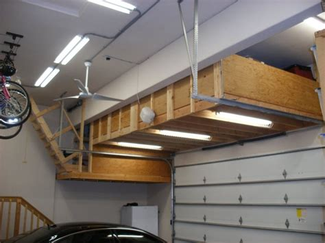 Overhead Garage Storage Diy by Impressing Wood Garage Overhead Storage Diy With Bycicles