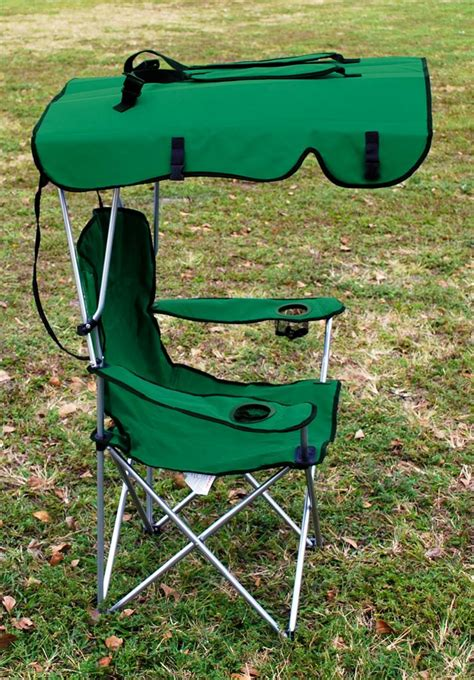 Folding Chair With Shade by 2 X Folding Canopy Chair Cing Chair Xl Outdoor C Chairs Green Ebay