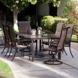 Sling Patio Furniture Sets Coral Coast Deluxe Padded Sling Aluminum Table Dining Set Seats 6 Patio Dining Sets