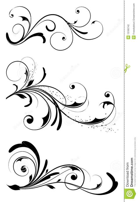 drawing vines pattern leaves and vines pattern stock photography image 13180742