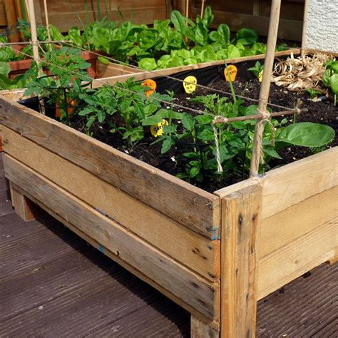 container gardening diy planter box from pallets foxy
