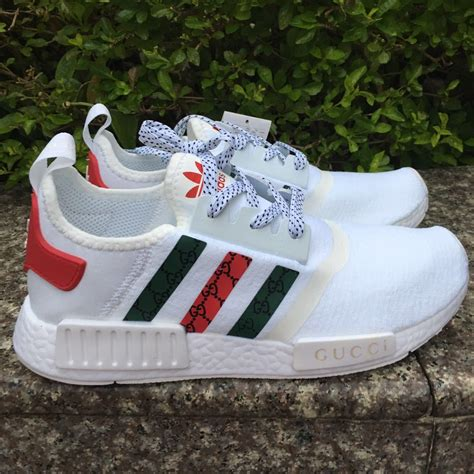 custom mens adidas casual shoes run nmd gucci sneakers white color athletic shoe athletic