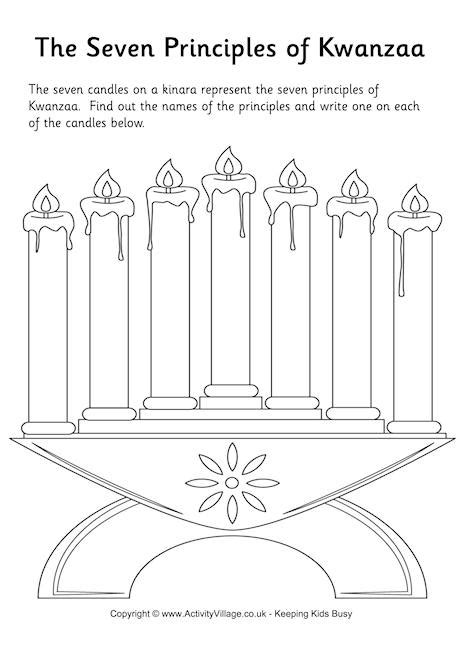 7 principles of kwanzaa worksheet teach holidays