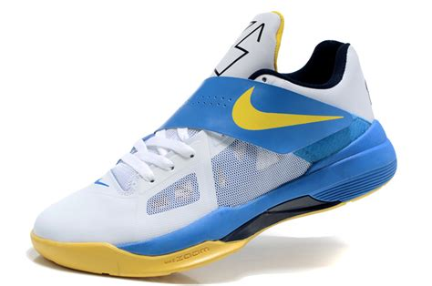 durant basketball shoes nike basketball shoes durant 4 white blue outlet