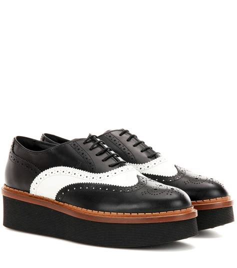 platform oxford shoes mytheresa leather platform oxford shoes luxury
