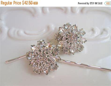 Bridal Rhinestone Flower Hair Pin wedding hair pin set bridal accessories flower