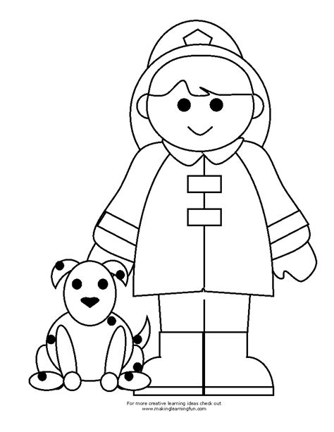 Coloring Pages Fireman free fireman clipart coloring pages
