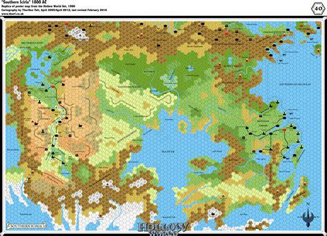 hollow world set southern iciria  miles  hex atlas