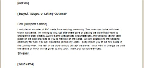 request letter for date change letter to request cancellation of an insurance policy