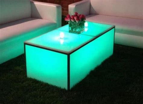 coffee table with lights equipment rental prices lighting furniture tables