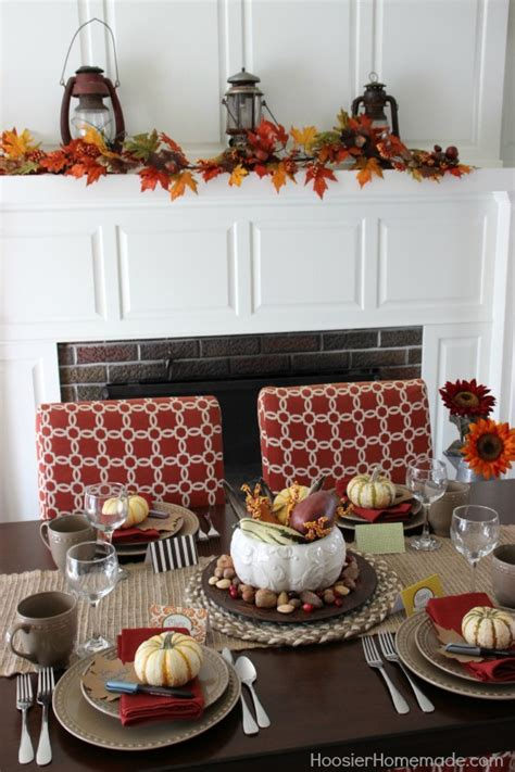 Home Made Thanksgiving Decorations by Simple Thanksgiving Table Decoration Hoosier