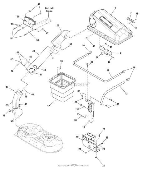 catcher diagram snapper 7600082 bag catcher parts diagram for