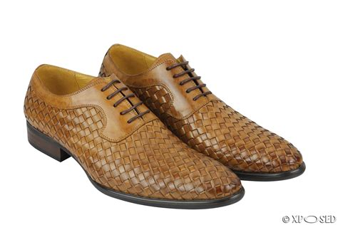 mens oxford lace up shoes mens woven real leather vintage basket weave oxford