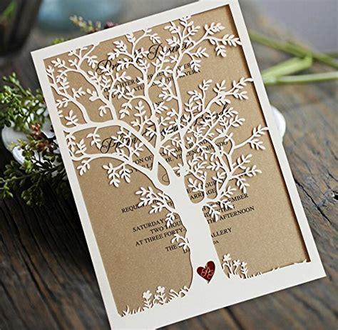 wedding invitation sles usa laser cut tree wedding invitation fall wedding invitation cards tree wedding invite rustic