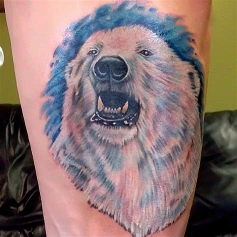 white ink polar design tattooshunt