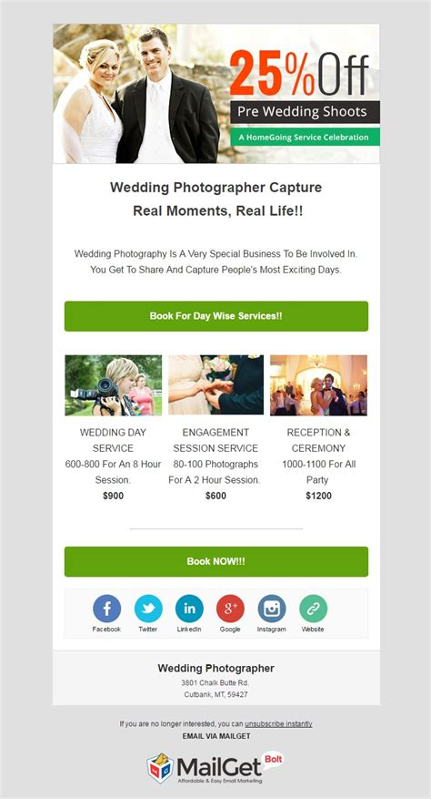9 Best Photographer Email Templates For Photo Studios Mailget Photographer Email Templates