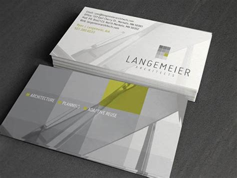 inspirational architecture business card