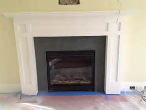 The fireplace surround in our family room is green slate there will