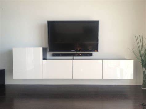 how to hang ikea besta cabinets 25 best ideas about led tv wall mount on pinterest tv