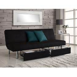 Futon With Storage Underneath Sola Storage Futon Black Walmart