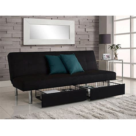 futon with storage sola storage futon black walmart