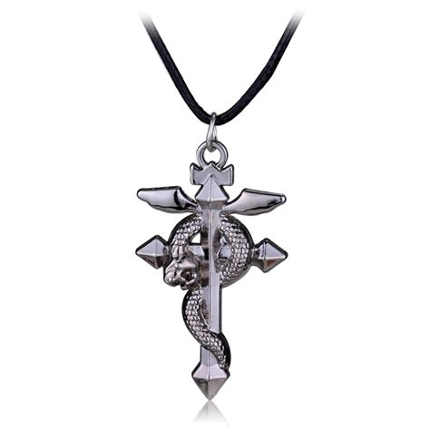 fullmetal alchemist edward necklace elric s flamel cross