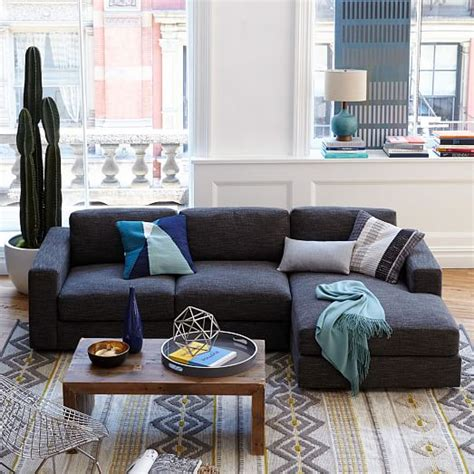 west elm urban sofa review urban 2 piece chaise sectional west elm