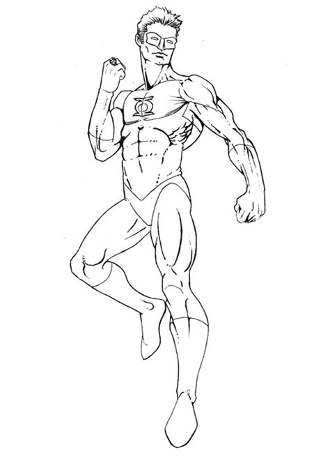 Green Lantern Coloring Pages To Download And Print For Free Green Lantern Coloring Page