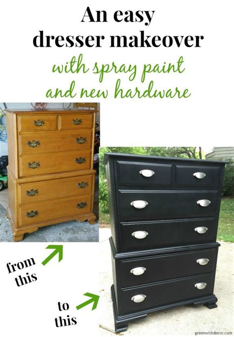 Spray Painted Dresser by A Dresser Makeover With Spray Paint Dresser Makeovers