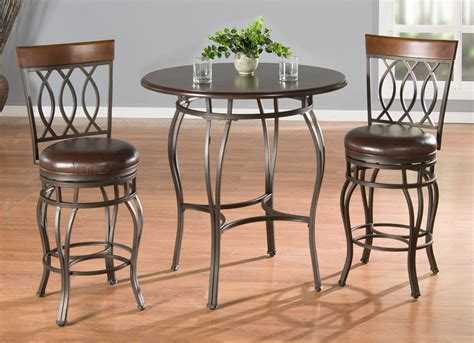 Counter Height Table Stools by American Heritage Delato 3 Pub Table Set W